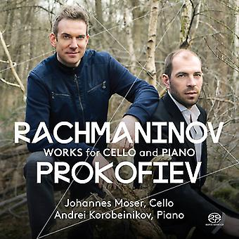 Prokofiev / Rachmaninov / Moser / Korobeinikov - Rachmaninov & Prokofiev: Works for Cello & Piano [SACD] USA import