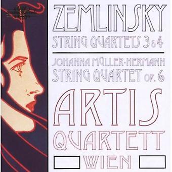 Zemlinsky/Hermann - Zemlinsky: stråkkvartetter nr 3 & 4; Johanna M Controller-Hermann: Stråkkvartett Op. 6 [CD] USA import