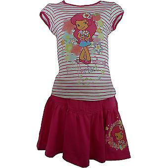 Meisjes CHARLOTTE aux FRAISES Strawberry Shortcake T-Shirt & rok instellen