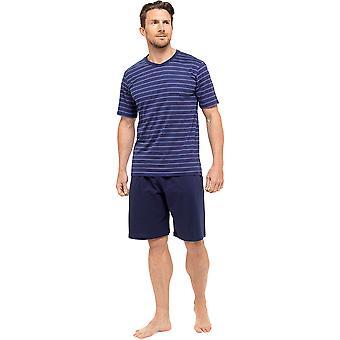 Tom Franks Mens Cotton Short Sleeve Top & Shorts Pyjama