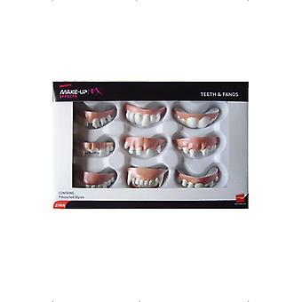 Δόντια βαμπίρ σετ 9x δάγκωμα Απόκριες καρναβάλι