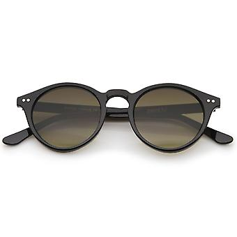 Classic Horn Rimmed Keyhole Nose Bridge P3 Round Sunglasses 46mm