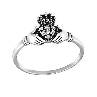 Claddagh - 925 Sterling Silver Jewelled Rings - W32334X