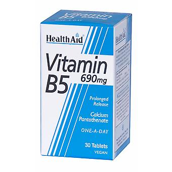Health Aid Vitamin B5 (Calcium Pantothenate) 690mg - Prolonged Release, 30 Tablets