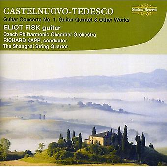 M. Castelnuovo - Castelnuevo-Tedesco: Gitarr Violinkonsert nr 1; Gitarr Quintet; Andra verk [CD] USA import