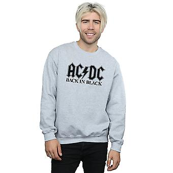 AC/DC Men's Back in Black Logo Sweatshirt