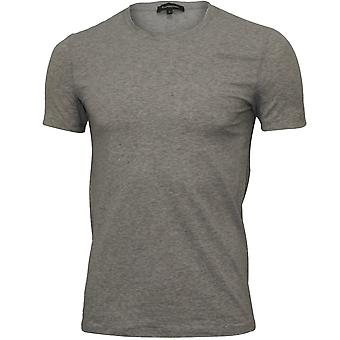 Ermenegildo Zegna Stretch Cotton Crew-Neck T-Shirt, Grey Melange
