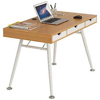 Computer Laptop Writing Work Desk Table w Drawers Retro Style Piranha Coley