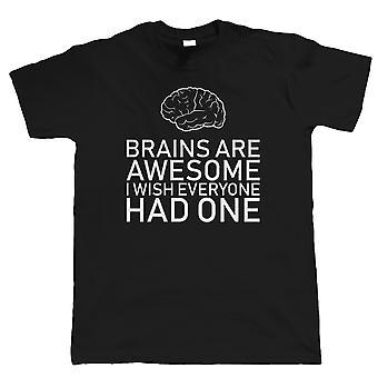 Cerebros son impresionantes, Hombres divertido sarcástico camiseta - regalo para él papá Día de los Padres