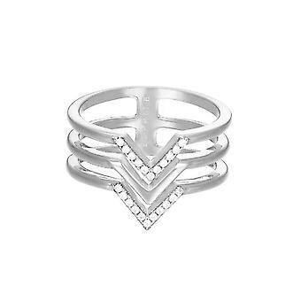 ESPRIT женщин кольцо Нержавеющая сталь серебро JW52894 кубического циркония ESRG02611A1