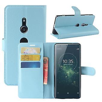 Pocket plånbok premium blå för Sony Xperia XZ2 skydd ärm fall täcka påse nya