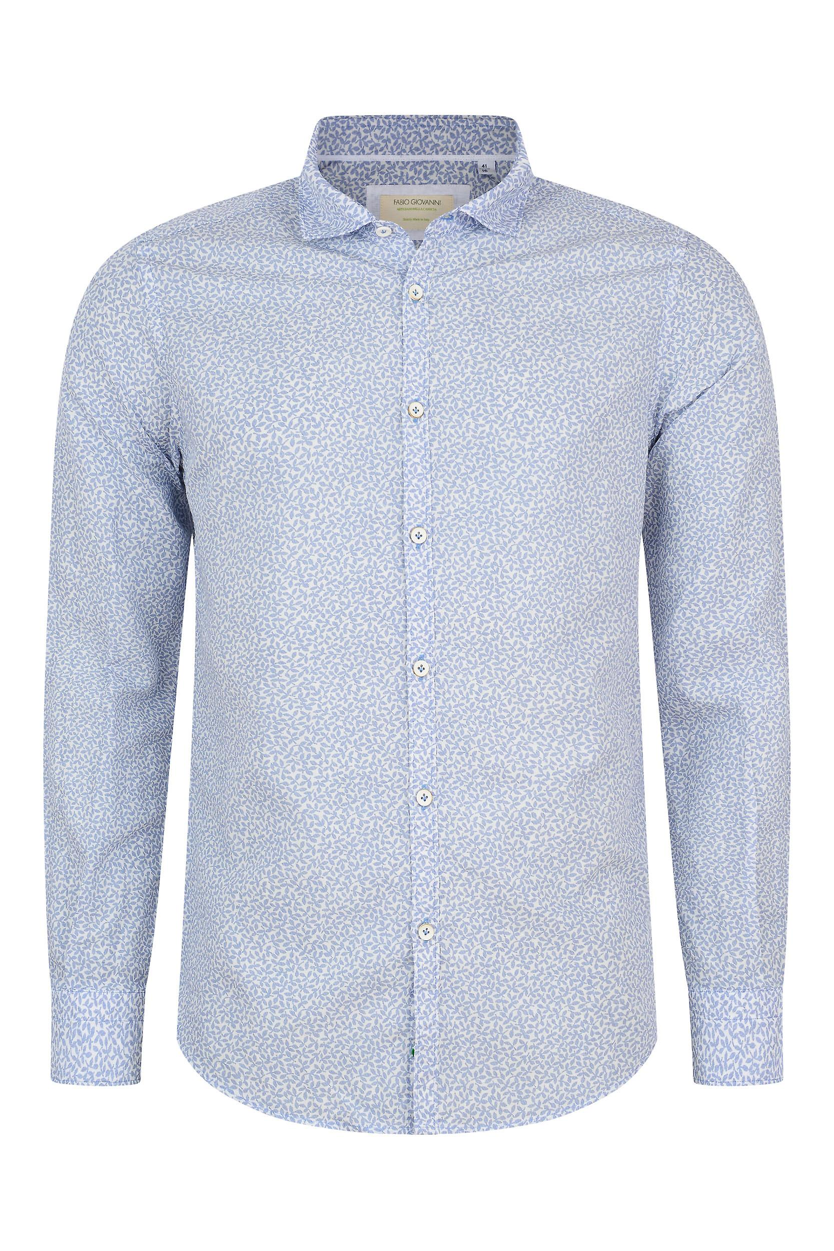 Fabio Giovanni Rizzuto Shirt - Luxurious Italian Linen & Cotton Blend with Soft Cutaway Collar