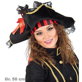 Pirate hat pirate lady hat tricorn