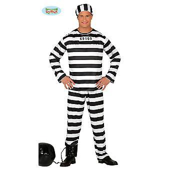 Condenado traje condenado prisioneiro na cadeia um tamanho masculino