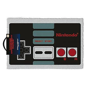 Mat van de Nintendo NES-controller afgedrukt gray, multicolor, kokos vezel, bodem gemaakt van PVC.
