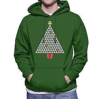 Original Stormtrooper Helmet Christmas Tree Men's Hooded Sweatshirt