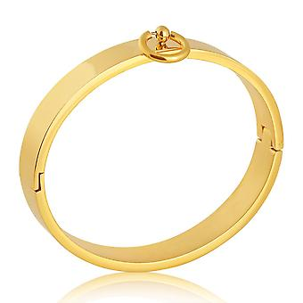 Story of O Bracelet, Stainless Steel Gold-Plated, Wrist Cuff, Fetish, Story of O