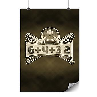 Matte or Glossy Poster with 6+4+3 2 Baseball | Wellcoda | *y3561