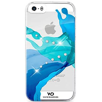 White Diamonds étui de protection pour iPhone 4 / 4 s - liquides bleu