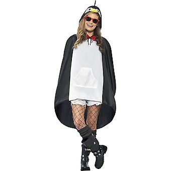 Penguin Party Poncho, One Size