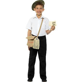 تم إجلاؤهم براون طقم الفورية مع حقيبة هات & التموينية، ملابس تنكرية الأولاد