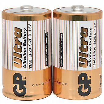 アルカリ D 電池 - 2 パック