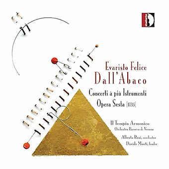E.F. Dall'Abaco - Evaristo Felice Dall'Abaco: Concerti   Pi  Istrument : Opera Sesta [CD] USA import
