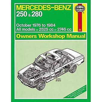 Mercedes-Benz 250 & 280 benzine Workshop handleiding (Haynes Service en reparatie handleidingen)
