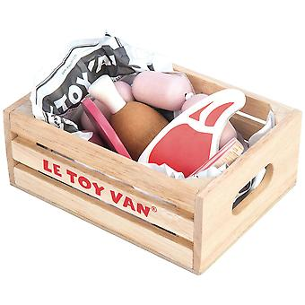 Le Toy Van Honeybake Play Market Crate Meat