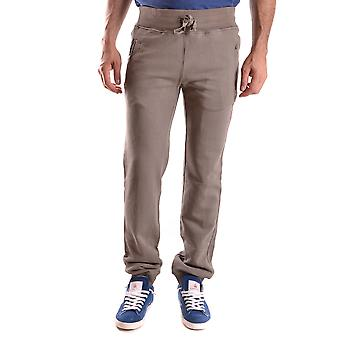 Daniele Alessandrini Ezbc107171 Men's Grey Cotton Pants