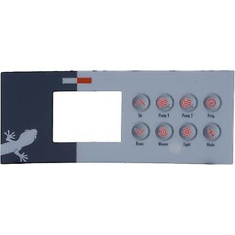 Gecko 9916-100094 8 Keys Overlay for TSC-4 or K-4