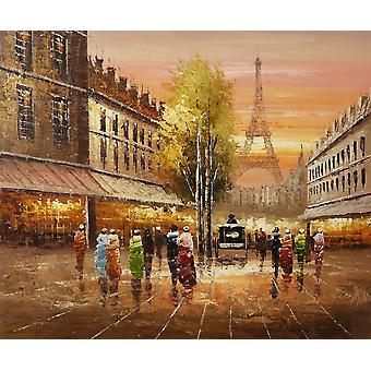 فرنسا باريس برج ايفل، 50x60 سم اللوحة الزيتية