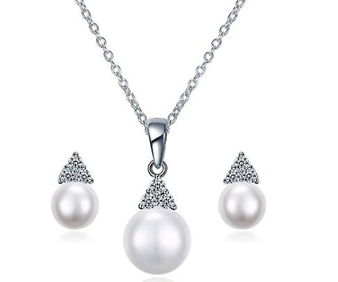 Freshwater Cultured Pearl Jewellery Sterling Silver Set