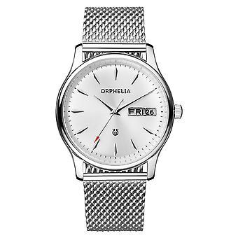 ORPHELIA Mens Analog Uhr Mailänder Silber Edelstahl 153-7712-88