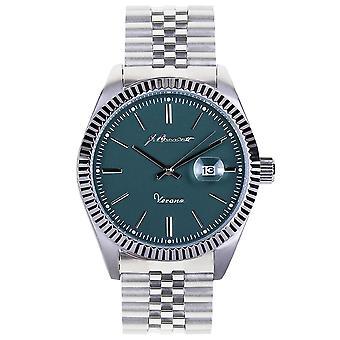J. Brackett Verona Bracelet Watch w/Date - Teal