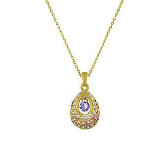 Eternal Collection Bliss Purple Tanzanite Itävallan Crystal Gold Tone riipus kaula koru