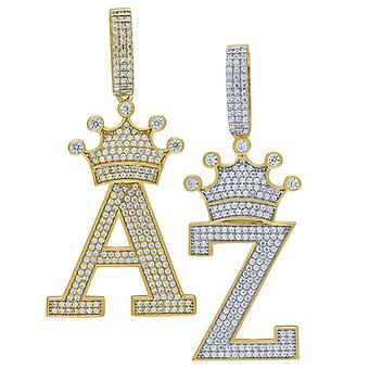 Premium Bling 925 sterling silver letter pendants A to Z