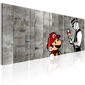 Schilderij - Graffiti on Concrete