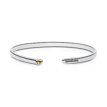 Loyola University Chicago Engraved Sterling Silver Yellow Sapphire Cuff Bracelet