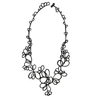 Batucada Skin Jewellery Black Petals Necklace 4-01-01-03-BLACK