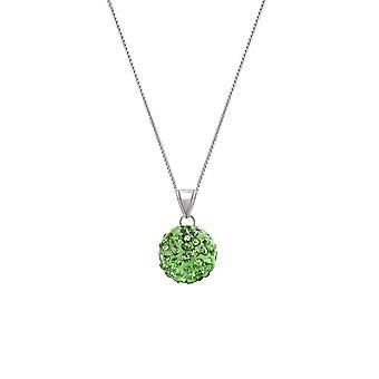 Evig samling Tarantella Peridot grønne Diamante Silver Tone anheng halskjede