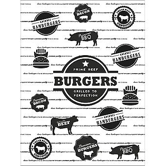 Hamburger Paper Coaster Hamburger Paper 25-pack