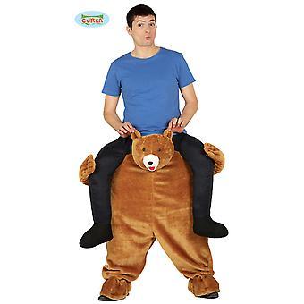 Fantasia de ancoragem urso ursos pardos vestindo fantasia