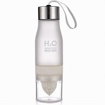 H2O water Bottle with citrus Press-white