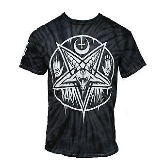 Wild star - pentagram baphomet - black tie-dye