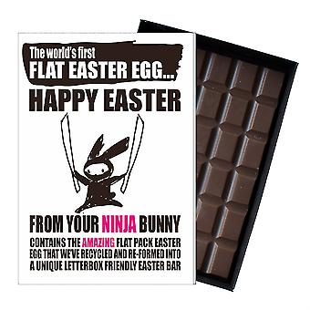 Śmieszne płaskie Easter Egg czekolada bar powitanie karty prezent chłopak Girlfriend UK EIYF121