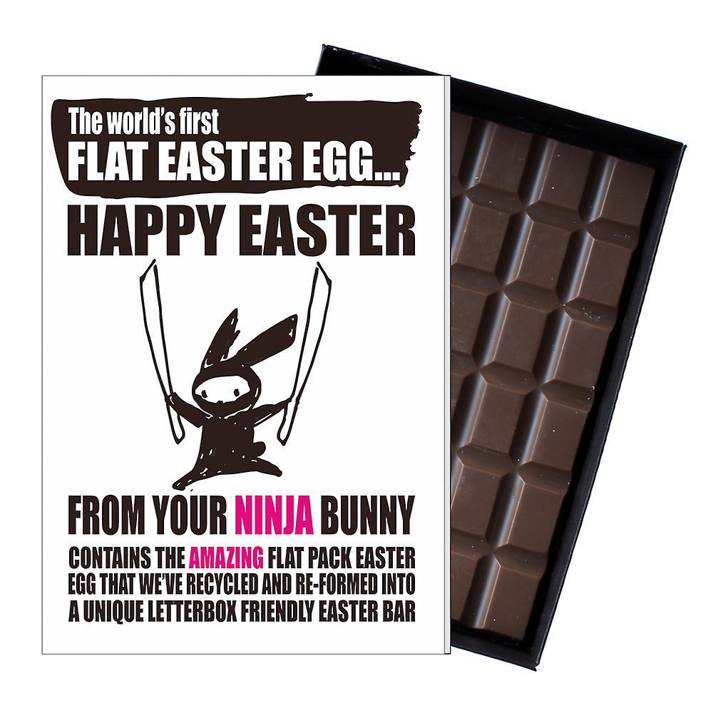 Funny Flat Easter Egg Chocolate Bar Greeting Card Gift Boyfriend Girlfriend UK EIYF121