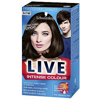 Schwarzkopf LIVE Intense 089 Bittersweet Chocolate Perm Hair Colour Dye 3 For 2