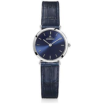Michel Herbelin | Womens | Epsilon | Blauwe lederen band | Blauwe wijzerplaat | 17106/15BL horloge