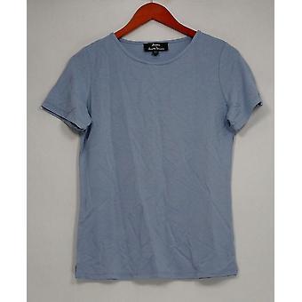 Dennis Basso Women's Top XXS Knit Essential Tee Quartz Blue A298246